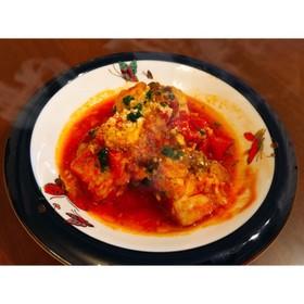 圧力鍋でホロホロ♡骨付き鶏のトマト煮込み