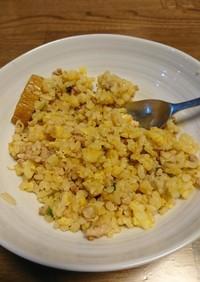 簡単アレンジ・ネギ塩豚の卵炒飯