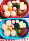 幼稚園(年少)双子のお弁当19