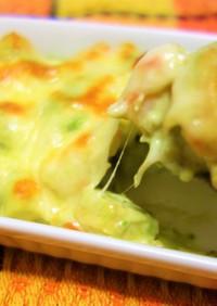 時短&簡単!アボカドと海老のチーズ焼き