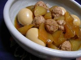 大根と鶏団子の煮物