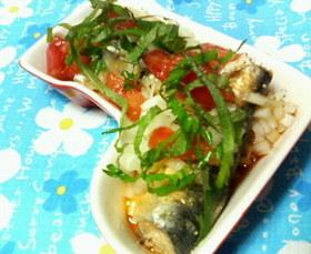 ✿前菜に❀オイルサーディン✿トマト酢風