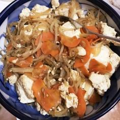 お豆腐と野菜の!オイスター中華風炒め☆