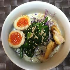 糖質ゼロ麺で豆乳ラーメン&常備菜の整理