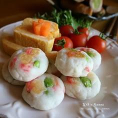 春色はんぺん焼き☆ポリ袋で超簡単☆お弁当