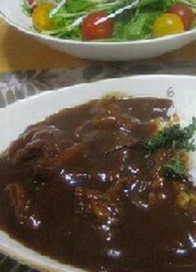 簡単★牛すじ肉のハヤシライス
