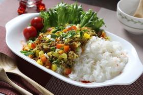 体を温め野菜と葉にんにく簡単あったカレー