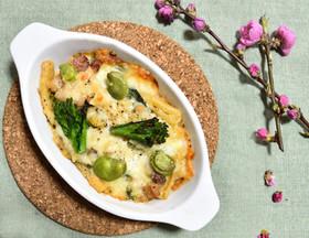 春のグラタン!空豆と菜の花のグラタン