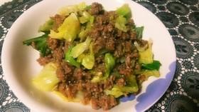 丼にも◎キャベツと挽き肉の炒め物。
