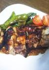 【簡単】鶏とししとうの生姜焼き