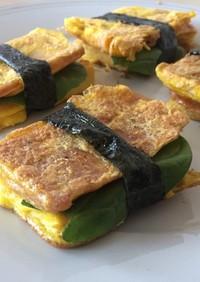 簡単!豆腐とスパムの卵サンド!