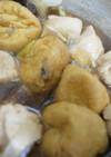 がんもと鶏肉とネギの煮物