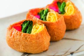 ひな祭り♡カラフルいなりちらし寿司