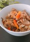 ひじきとじゃこと野菜の炊き込みご飯
