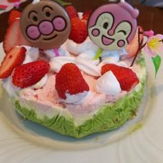 雛祭りに、3色アイスケーキ☆
