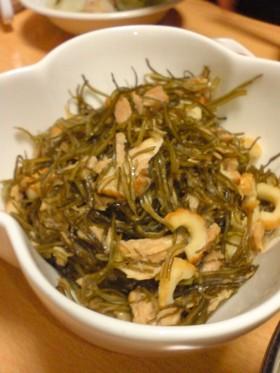 刻み昆布とツナの炒め煮