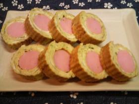 魚肉ソーセージの玉子焼き