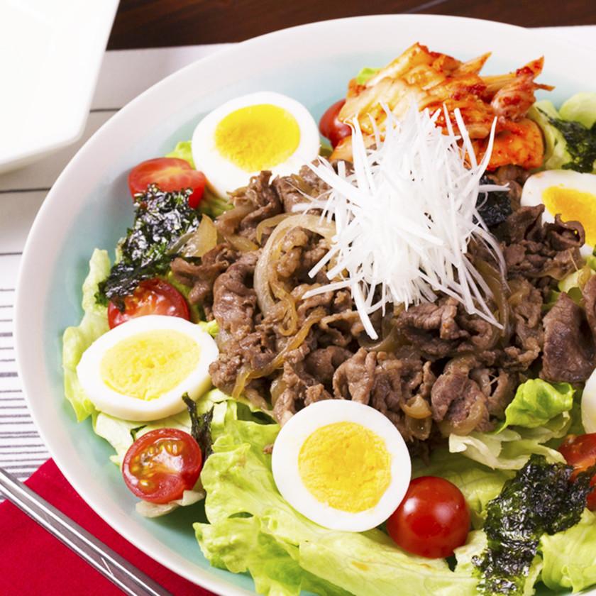 たっぷり野菜♪おうち焼肉サラダ☆