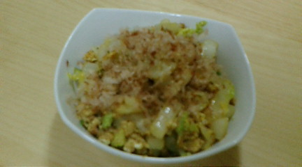ツナと白菜の納豆おかか炒め