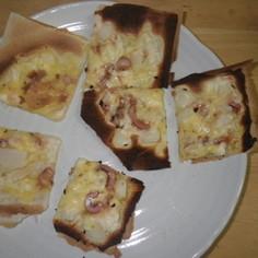 検証:ポテサラとイカ塩辛のピザ