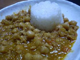 ひよこ豆のキーマカレー