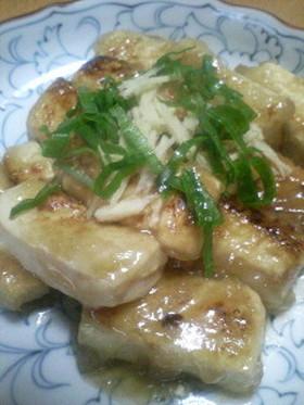 豆腐のとろみ生姜焼き