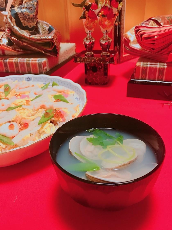 ひな祭り  ハマグリのお吸い物