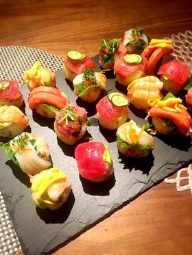 ちらし寿司の素で♡手毬寿司のひな祭り♡