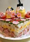 お雛様ちらし寿司ケーキ