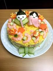 ちらし寿司ケーキの写真