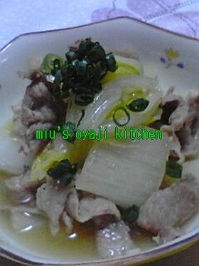 簡単レシピ8 白菜と豚炊いたん