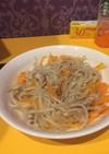 レンジで簡単!肉野菜炒め風