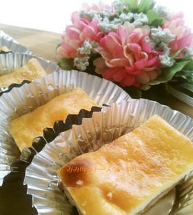 カッテージチーズでチーズケーキバー