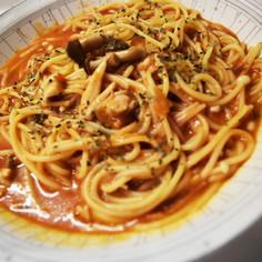 トマトクリームスープパスタ