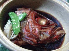 金目鯛のアラ煮(頭煮)