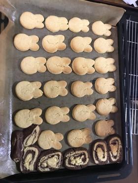 簡単型抜きクッキー卵抜きHB使用