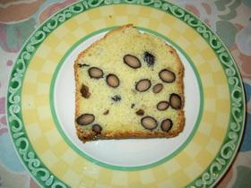 煮豆入りのパウンドケーキ