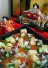 市販の素で彩りちらし寿司2018ひな祭り