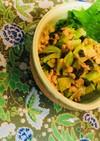 塩酒粕ネギ油で*ブロッコリー茎の納豆和え