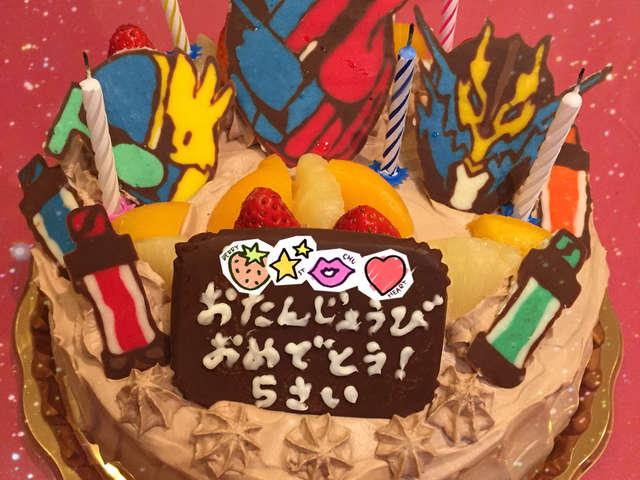 仮面ライダービルドのケーキ