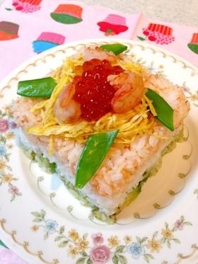 ひな祭りに。菱餅風ご飯ケーキ