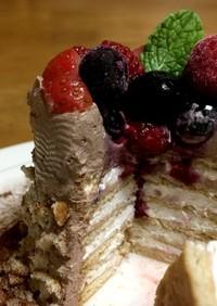 オーブン不要!市販のお菓子で簡単ケーキ♡