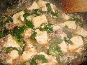 麻婆豆腐(しょう油味)