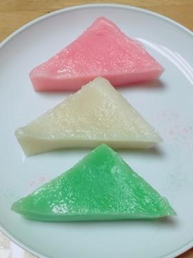 お雛祭り♡三色ういろう(菱餅代わりにも)