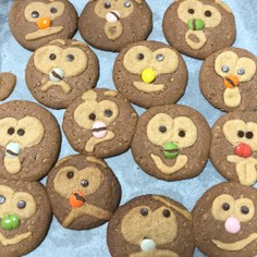 手作りクッキー(顔?フクロウ?編)