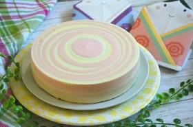 簡単!カラフル♪ゼブラ・レアチーズケーキ