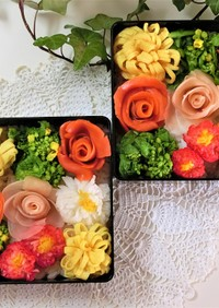 お花のモザイク寿司*母の日・おひな祭り