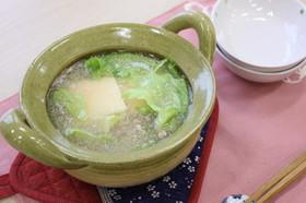 レタス湯豆腐 明太子風味