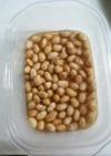 梅干の漬け汁で梅酢大豆