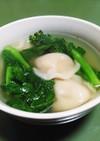 菜の花と水餃子の中華スープ